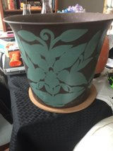 Decorative metal pot in Fort Campbell, Kentucky