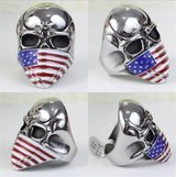 American flag skull ring in Camp Lejeune, North Carolina