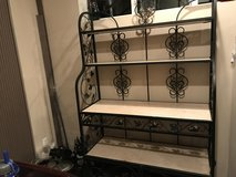 Turkish Wrought Iron and Marble Bakers Rack in Tacoma, Washington