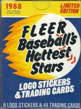 1988 fleer baseball's hottest stars logo stickers & trading cards in Fort Riley, Kansas