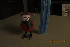 Sweet Ceramic Christmas Bird -- Glittery Window Sitter w/Tag in Houston, Texas