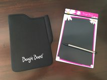Hot Pink Flower Boogie Board Writing Tablet with Case and Pen in Batavia, Illinois