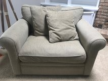 Couch, oversized chair and ottoman - Crate & Barrel in Glendale Heights, Illinois