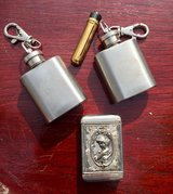 matchbox and flask keychains in Fort Knox, Kentucky