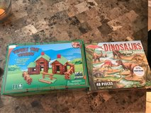Tumble tree timbers and floor dinosaur puzzle in Warner Robins, Georgia