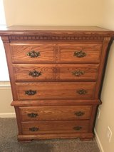 Solid Oak Tall Dresser with 5 Drawers in Fort Campbell, Kentucky