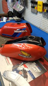 vintage Honda dirt bikes, trail bike. Gas tank. in Joliet, Illinois