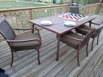 Large, Beautiful Outdoor Table with 6 chairs and cushions in Alamogordo, New Mexico