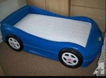 race car toddler bed with mattress in Joliet, Illinois