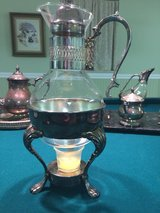 Silverplate And Glass coffee warmer in Naperville, Illinois