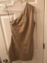 express gold shimmer dress in Glendale Heights, Illinois