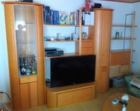 Highend Solid Wood Entertainment Center in Ramstein, Germany