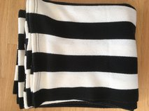 Black and White Striped Ikea Blanket in Stuttgart, GE