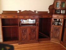 Antique English Tiger Oak Corner Wall Cabinet's 1800's in Cherry Point, North Carolina