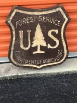 Salvaged Forest Service Wood Sign in Camp Lejeune, North Carolina