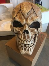 Halloween Extra Large Skull with light up Eyes LED and Spound Activated Spooky Sounds in Joliet, Illinois