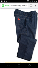 DICKIES MENS FLAME RESISTANT JEANS SIZE 34X32 New at $80 in Leesville, Louisiana