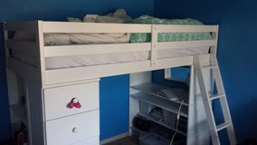 Twin loft bed with mattress in Oceanside, California