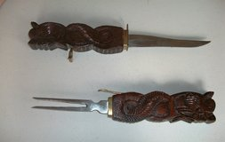 Collector Knife & Fork Carving Set in Alamogordo, New Mexico