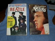 1964 The Beatle Book and 1976 The Illustrated Elvis book in Joliet, Illinois