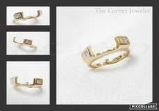 14K Yellow Gold, Wrap , Princess Cut Diamonds .25ctw , Size 4.5 in Camp Lejeune, North Carolina