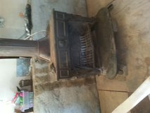 antique Franklin stove in Alamogordo, New Mexico