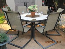 Hexagon Outdoor Table With 6 Chairs in Vacaville, California