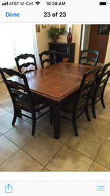 Farmhouse Table, Chairs, China cabinet in Baytown, Texas