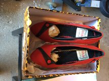 New with box, Bettie Page red pumps, size 7 in Orland Park, Illinois