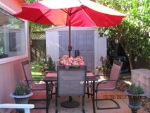 Attractive 7 Piece Outdoor Table With 4 Chairs,Umbrella And Stand in Vacaville, California