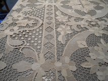 Vintage Lace Tablecloth - Handcrafted in Camp Lejeune, North Carolina