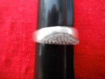 Ladies Silver ring with a lot of saphires, size 10 1/2 in Yucca Valley, California