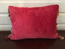 """Red Decorative Throw Pillow with Tassles - 12"""" x 18"""" in Plainfield, Illinois"""