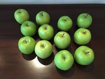 Set of 12 Faux Green Apples from Pottery Barn in Lockport, Illinois