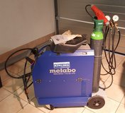 Metabo Mig/Mag 170/30 XTC Welder with Argon Gas Bottle in Wiesbaden, GE