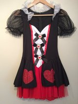 Alice in Wonderland Enchanted queen of hearts halloween costume size small(4-8) in Lockport, Illinois