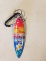 Surfboard key chain from Maui in Bolingbrook, Illinois
