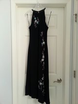 Black Dress with Asymmetrical Hem and Gorgeous Beading in Plainfield, Illinois