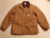 Carharrt Brown Work Jacket with artic black quilt liner 44 Regular in Glendale Heights, Illinois