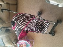 Zebra print stroller in 29 Palms, California