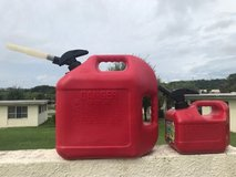 5 Gallon and 1 Gallon Gas Containers in Okinawa, Japan