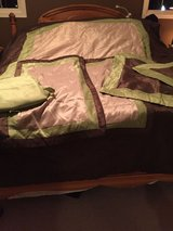 King Sized Comforter with Bed Skirt and 4 Pillows and Shams in Wilmington, North Carolina