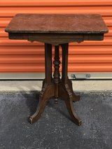 Antique Walnut Victorian Marble Side Table in Cherry Point, North Carolina