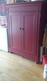 Solid Red Wood Armoire in Stuttgart, GE