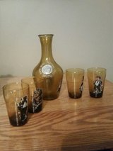 1971 Dafni Greece Wine Festival Decanter with Matching Glasses in Fort Leonard Wood, Missouri