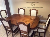 Dining Room Table, 6 Chairs & Hutch in Fort Leonard Wood, Missouri