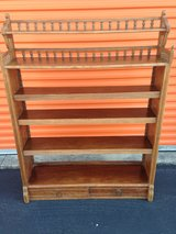 "Antique Solid ""Teak"" Victorian Adjustable Bookcase in Cherry Point, North Carolina"