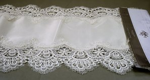 """Embroidered Cutwork Table Runner 13"""" x 68"""" NEW in New Lenox, Illinois"""