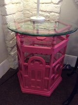 Unique Birdcage Table w/Beveled Glass Top- New Price in Beaufort, South Carolina