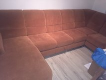 Pull out bed sofa sectional. Will add chair no extra charge. in Baumholder, GE